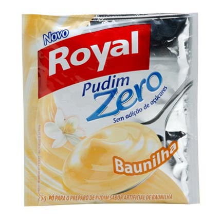 pudim diet baunilha royal papo gula