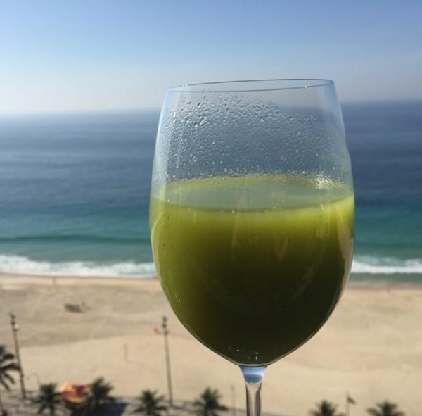 Suco verde também para ser tomado em Jejum