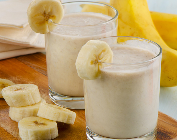 smoothie de banana lanches papo gula